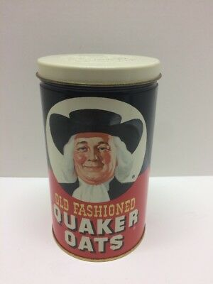 OLD FASHIONED QUAKER OATS Vintage Collectible Tin Limited Edition 1982