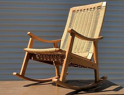 Marvelous Rocking Chair Rope Rocker Made In Yugoslavia 265 00 Ocoug Best Dining Table And Chair Ideas Images Ocougorg