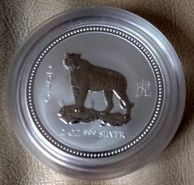 2oz Year of the Tiger - Perth Mint - Lunar Series 1 - 999 Silver Coin