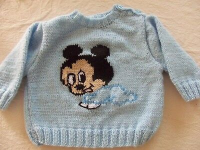 Mickey Bebe   Pull Tricote Main Taille  3 Mois
