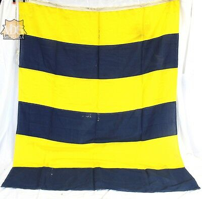 "Antique Large Naval Signal Flag-52x64"" From WW2 USN Estate US Navy"