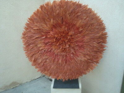 "32""  Copper or Rust  / African Feather Headdress / Juju Hat / 1st. Quality"