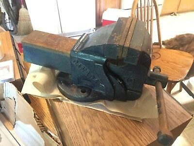 Bench Vise Large Heavy Duty Eron 5 Wide Jaws Swivel Vise Made In