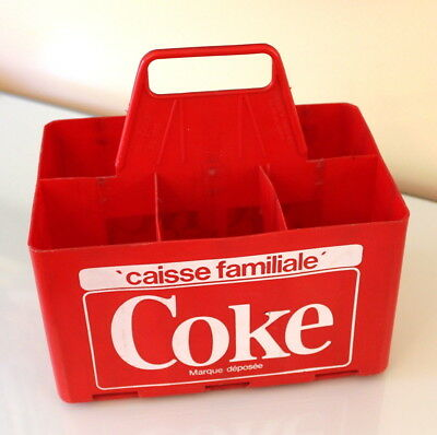 Vintage Coca Cola Red Plastic Case French Only Version