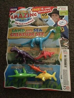 Andy amazing adventures magazine issue 11 land and sea creature set