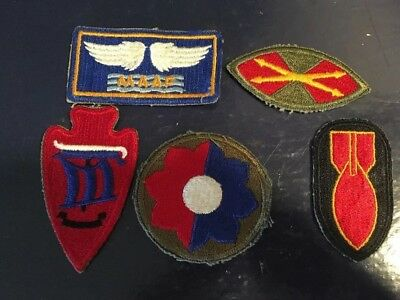 Vintage WW2 Era US Patches lot of 5