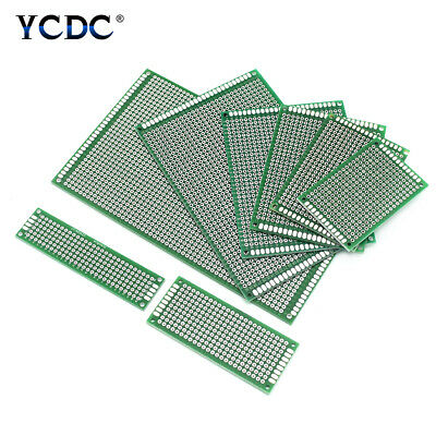8 Sizes PCB Prototyping Printed Circuit Board Double-sided Strip Breadboard 119