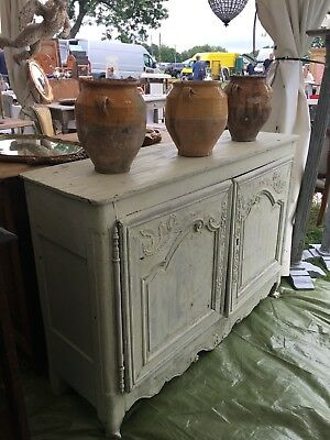 French Antique Buffet / Sideboard / Cupboard Solid Oak Painted