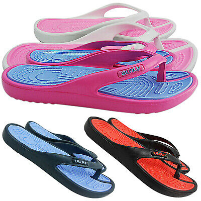 New Womens Ladies Summer Beach Surf Toe Post Flip Flops Sandals Shoes Size Jelly
