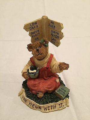 """NEW Boyds Bear 2006 - """"CALORINA COUNTING...JUST THE WAY I AM"""" Figurine - 1E/1182"""