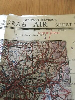 WW2  RAF Map of North Wales and Manchester