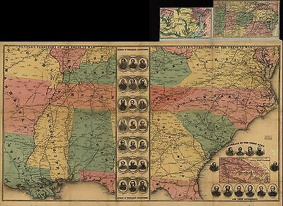 12x18 inch Reprint of American Military Map Northern Usa