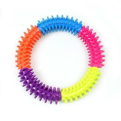 Dog Toy Puppy Dental Ring Soft Rubber Teething Pet Chew Ring For Healthy Gums UK