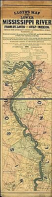12x18 inch Reprint of American Railroad Map Mississippi River