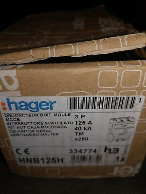 Hager X250?Automatic Switch X2503P 40KA 125A TM Adjustable