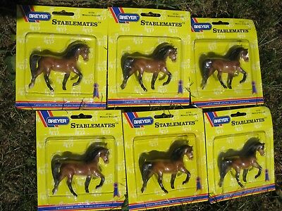 Breyer Stablemates Morgan Stallion #5184 New in Original Package, Lot of 6