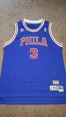 0325d6328e1 Throwback Allen Iverson Philadelphia 76ers Sixers Youth XL Nba Jersey