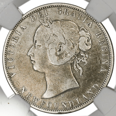 1872-H Newfoundland Silver 50 Cents KM.6 - NGC VF Detail