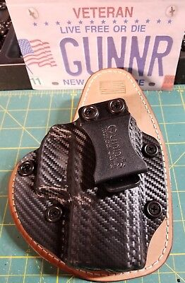 Fits Ruger, Taurus, Colt Models  Iwb Hybrid Holster Kydex/leather Concealed  Ccw