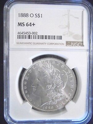 1888-O Morgan Silver Dollar, NGC, MS-64+ Superb Coin Eye Appeal Plus