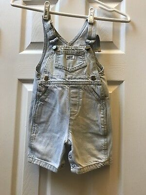 Vintage 80s 90s Overalls GUESS Light Blue Wash Bib Overall Short Unisex