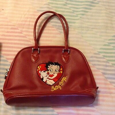 New Betty Boop and Pudgy Red Leather Purse
