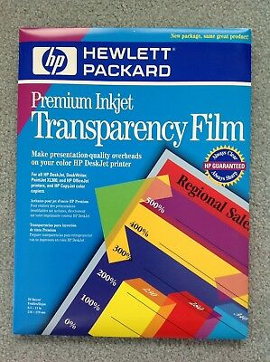 HP Premium Transparency Film C3834A 50 Sheets New Unopened