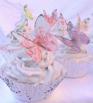 Butterfly Cake Decoration 20pc Edible Flower Print Fairy Petal Princess Mother