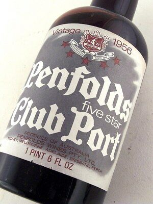 "1956 PENFOLDS Five Star Club Port ""C"" in Perfect Condition ISLE OF WINE"