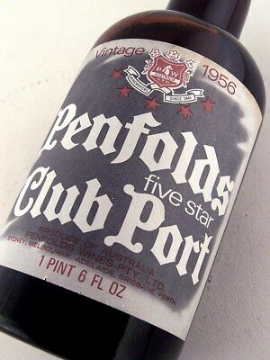 "1956 PENFOLDS Five Star Club Port ""D"" in Perfect Condition ISLE OF WINE"