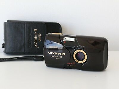 136f5d5af0f (MINT-) OLYMPUS Μ MJU  -II Limited 35mm Compact Film Camera (With Case    Strap) - EUR 404