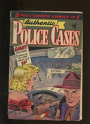 Authentic Police Cases 25 VG 4.0 * 1 Book Lot * Golden Age St. John 1953! Crime!
