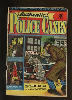 Authentic Police Cases 31 GD/VG 3.0 *1 Book* Golden Age St John 1954 Baker Cover