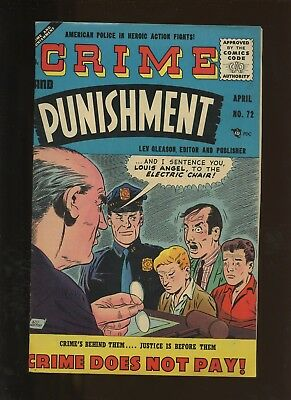 Crime and Punishment 72 VF 7.5 * 1 Book Lot * Golden Age Lev Gleason!