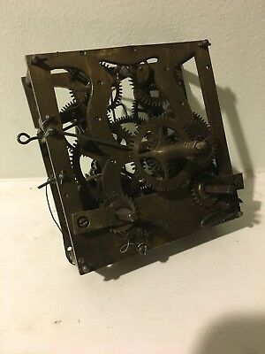 Black Forest Lyre Spring Wound Clock Movement