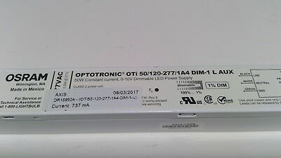New Osram Optotronic Dimmable Power Supply, 50w, OTi 50/120-277/1A4 DIM-1 L AUX