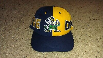 Notre Dame Fighting Irish American Needle Vintage 1990s Two Tone Snapback Hat
