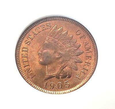 1905 1C Indian Head Cent NGC MS66RB  Sharp Satiny 85% RD Better late Dte in 66RB