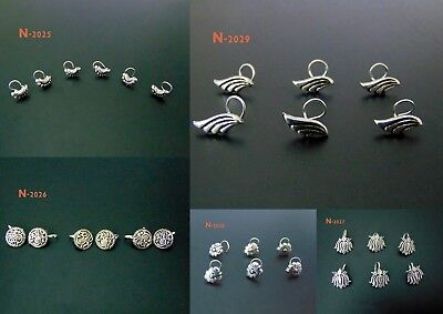Nose-Jewelry-Indian-Nose-Ring-Nose-Piercing-Feather-Screw-Nose-Stud-Medusa-Pin