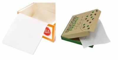 7 x 14 inch Greaseproof Paper Take Away FOOD FC1 CHICKEN Pizza Box Liners x 480