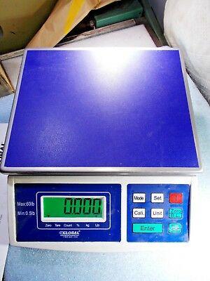 GLOBAL 240878 ELECTRONIC WEIGHING COUNTING SCALE RS232 Option USER GUIDE 60 LBS