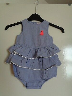New with tags Girls Designer LILI GAUFRETTE Cotton Playsuit, 18m, tiered.