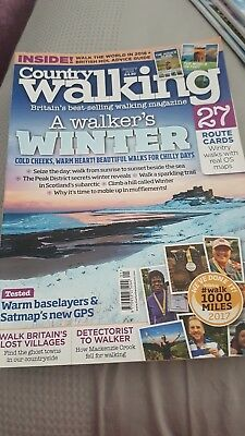 Country Walking Magazine - issue 375 - January 2018.. was £4.99