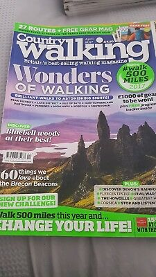 Country Walking Magazine - issue 366 - April 2017.. was £4.30