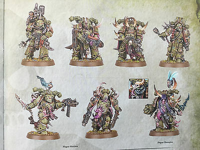 Warhammer 40000 40k Dark imperium nurgle death guard plague marines 7 Stück!!!!