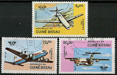 Guinea-Bissau 1984 SG#832-4, 40th Anniv Of ICAO, Aircrafts Cto Used Set #A92746