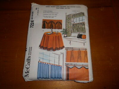 Vintage Mccalls 7224 Cafe Curtains & Round Cloth - 1964 - Uncut & Ff