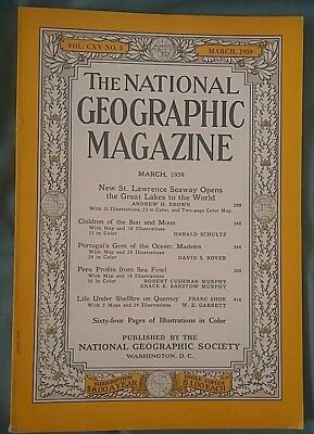 National Geographic magazine March 1959
