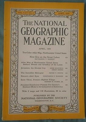 National Geographic magazine April 1959
