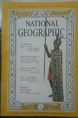 National Geographic magazine February 1961